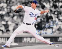 Rich Hill Signed Dodgers 11x14 Photo (PSA Hologram) (See Description) at PristineAuction.com