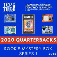 TTC 2020 Quarterbacks All Rookie Mystery Card Box Series 1 - (4) Rookie Cards per Box - NO DUPLICATES! (Limited to 25) at PristineAuction.com