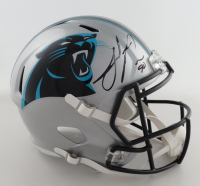 Julius Peppers Signed Panthers Full-Size Speed Helmet (Schwartz COA) at PristineAuction.com