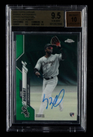 Luis Robert 2020 Topps Chrome Rookie Autographs Green Refractors #RALR #67/99 (BGS 9.5) at PristineAuction.com