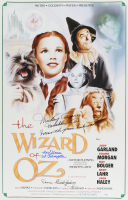 """Donna Stewart-Hardaway, Mickey Carroll & Karl Slover Signed """"Wizard of Oz"""" 16x25 Poster with Inscriptions (JSA COA) (See DescriptioN) at PristineAuction.com"""