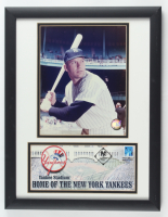 Mickey Mantle Yankees 13.5x17.5 Custom Framed Photo Display at PristineAuction.com