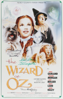 """Donna Stewart-Hardaway, Mickey Carroll & Karl Slover Signed """"Wizard of Oz"""" 16x25 Poster with Inscriptions (JSA COA) at PristineAuction.com"""