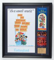 "Disneyland Fantasyland's ""It's A Small World"" 19x21 Custom Framed Print Display with Vintage Disneyland Photo Portfolio, Booklet, & Ride Ticket at PristineAuction.com"