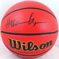 Hakeem Olajuwon Signed NCAA Basketball (Beckett Hologram) at PristineAuction.com