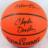 Hakeem Olajuwon & Clyde Drexler Signed NBA Game Ball Series Basketball (JSA Hologram & Beckett Hologram) at PristineAuction.com