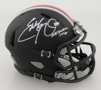 Eddie George Signed Ohio State Buckeyes Matte Black Speed Mini Helmet (JSA COA) at PristineAuction.com