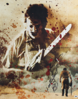 """Andrew Bryniarski Signed LE """"The Texas Chain Saw Massacre"""" 16x20 Photo Inscribed """"Leatherface"""" with Hand Drawn Sketch (BAM! COA) at PristineAuction.com"""