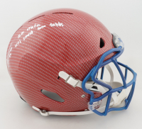 """Tremaine Edmunds Signed Full-Size Authentic On-Field Hyrdro-Dipped Helmet Inscribed """"Bills Mafia"""" & """"Let's Smash Some Tables"""" (Beckett COA) at PristineAuction.com"""