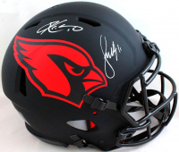 Kyler Murray & Larry Fitzgerald Signed Cardinals Full-Size Authentic On-Field Eclipse Alternate Speed Helmet (Beckett Hologram) at PristineAuction.com