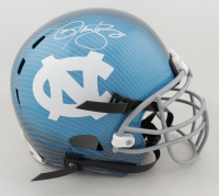Lawrence Taylor Signed North Carolina Tar Heels Full-Size Authentic On-Field Hydro-Dipped Helmet (JSA Hologram) (See Description) at PristineAuction.com