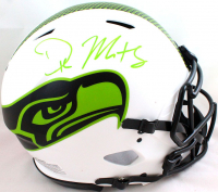 DK Metcalf Signed Seahawks Full-Size Authentic On-FIeld Lunar Eclipse Alternate Speed Helmet (Beckett COA) at PristineAuction.com