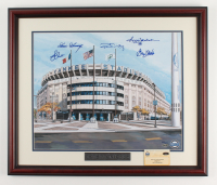 1978 Yankees LE 22.5x26.5 Custom Framed Print Display Team-Signed by (5) With Reggie Jackson, Goose Gossage, Ron Guidry, Graig Nettles & Bucky Dent (Steiner COA) (See Description) at PristineAuction.com