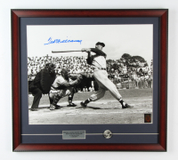 Ted Williams Signed Red Sox 21x23 Custom Framed Photo Display with Original 1950's Lapel Pin (Ted Williams COA) at PristineAuction.com