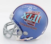 David Tyree Signed Giants Super Bowl XLII Mini Helmet (PSA COA) at PristineAuction.com