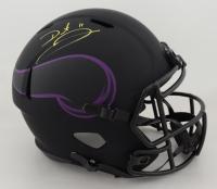 Daunte Culpepper Signed Vikings Full-Size Eclipse Alternate Speed Helmet (Schwartz Hologram) (See Description) at PristineAuction.com
