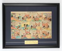 "Vintage Disney's ""Walt Disney's Mickey Mouse"" 14x19 Custom Framed Comic Strip Display at PristineAuction.com"