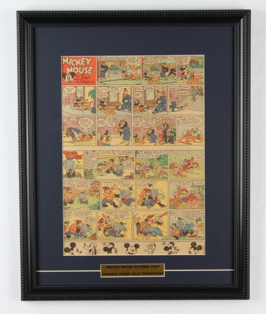 "Vintage Disney's ""Walt Disney's Mickey Mouse"" 16x20 Custom Framed Comic Strip Display at PristineAuction.com"
