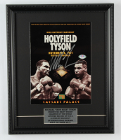 Mike Tyson Signed 14x17 Custom Framed Original Fight Poster Display (PSA COA) at PristineAuction.com