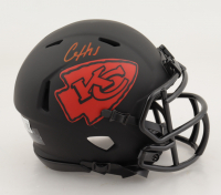 Clyde Edwards-Helaire Signed Chiefs Eclipse Alternate Speed Mini-Helmet (Beckett Hologram) at PristineAuction.com