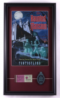 """Disneyland """"Haunted Mansion"""" 15x26 Custom Framed Print Display with Vintage Ticket Booklet & Haunted Mansion Souvenir at PristineAuction.com"""
