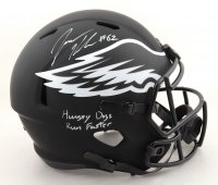 """Jason Kelce Signed Eagles Full-Size Eclipse Alternate Speed Helmet Inscribed """"Hungry Dogs Run Faster"""" (JSA COA) (See Description) at PristineAuction.com"""