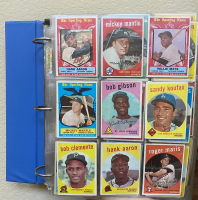 1959 Topps Complete Set of (572) Baseball Cards In Original Binder with #10 Mickey Mantle, #514 Bob Gibson RC, #380 Hank Aaron, #478 Roberto Clemente at PristineAuction.com