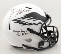 """Jason Kelce Signed Eagles Full-Size Lunar Eclipse Alternate Speed Helmet Inscribed """"Hungry Dogs Run Faster"""" (JSA COA) at PristineAuction.com"""