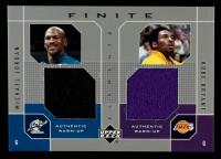Michael Jordan / Kobe Bryant 2002-03 Upper Deck Finite Elements Dual Warm-Ups #MJKB at PristineAuction.com