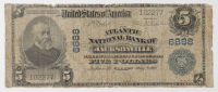 1902 $5 Five-Dollar U.S. National Currency Large-Size Bank Note - The Atlantic National Bank of Jacksonville, Florida at PristineAuction.com