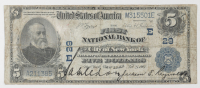 1902 $5 Five-Dollar U.S. National Currency Large-Size Bank Note - The First National Bank of the City of New York, New York at PristineAuction.com