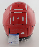 Christian Okoye Signed Full-Size Authentic On-Field Hydro-Dipped F7 Helmet (PSA COA) (See Description) at PristineAuction.com