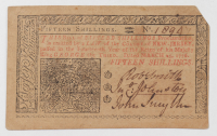 1776 15s. Fifteen Shillings - New Jersey - Colonial Currency Note at PristineAuction.com