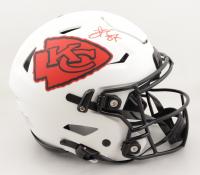 Travis Kelce Signed Chiefs Full-Size Authentic On-Field Lunar Eclipse Alternate SpeedFlex Helmet (Beckett Hologram) at PristineAuction.com