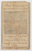 1777 4s. Four Shillings - Pennsylvania - Colonial Currency Note at PristineAuction.com