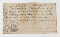 1771 10s. Ten Shillings - North Carolina - Colonial Currency Note at PristineAuction.com