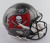 Devin White Signed Buccaneers Full-Size Authentic On-Field Speed Helmet (Beckett COA) at PristineAuction.com