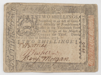1773 2s. Two Shillings - Pennsylvania - Colonial Currency Note at PristineAuction.com