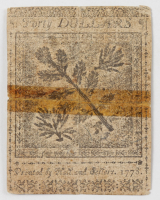 1778 $40 Forty Dollars - Continental - Colonial Currency Note at PristineAuction.com