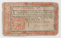 1777 2s. Two Shillings - Pennsylvania - Colonial Currency Note at PristineAuction.com