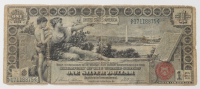 """1896 $1 One-Dollar """"Educational Series"""" Large-Size Silver Certificate at PristineAuction.com"""