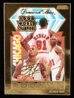 Dennis Rodman 1996 23kt Gold Bleachers Card at PristineAuction.com
