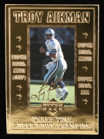 Troy Aikman 23kt Gold Bleachers Card at PristineAuction.com