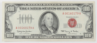 1966 $100 One-Hundred Dollars Red Seal U.S. Legal Tender Note at PristineAuction.com