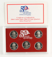 2004-S U.S. 50 State Quarters Mint Proof Set with (5) Coins with Original Packaging (See Description) at PristineAuction.com