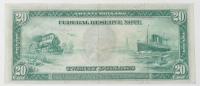 1914 $20 Twenty-Dollars Blue Seal U.S. Large-Size Federal Reserve Note at PristineAuction.com