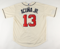 "Ronald Acuna Jr. Signed Braves Jersey Inscribed ""Sabanero Soy"" (JSA COA) at PristineAuction.com"