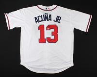 "Ronald Acuna Jr. Signed Braves Jersey Inscribed ""2018 NL ROY"" (JSA COA) at PristineAuction.com"