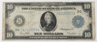 1914 $10 Ten-Dollars Blue Seal U.S. Large-Size Federal Reserve Note at PristineAuction.com