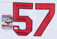 """Shane Bieber Signed Indians Jersey Inscribed """"2020 Triple Crown"""" & """"2020 AL Cy Young"""" (JSA COA) at PristineAuction.com"""